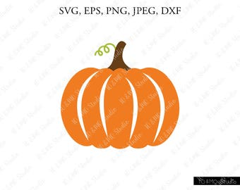 Fall Pumpkin SVG, Pumpkin Svg, Halloween Svg, Pumpkin Clipart, Thanksgiving SVG, Cricut, Silhouette Cut Files