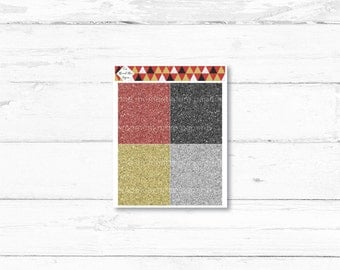 New Year's in the City Glitter Headers // New Year's Weekly Planner Sticker Kit