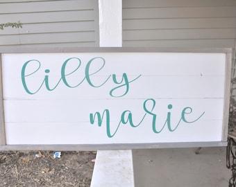 Nursery Name Wood Sign / Little Girls Room Decor / Nursery Decor / Baby Girl / Home Decor / Wood Sign / Signs / Nursery / Bedroom