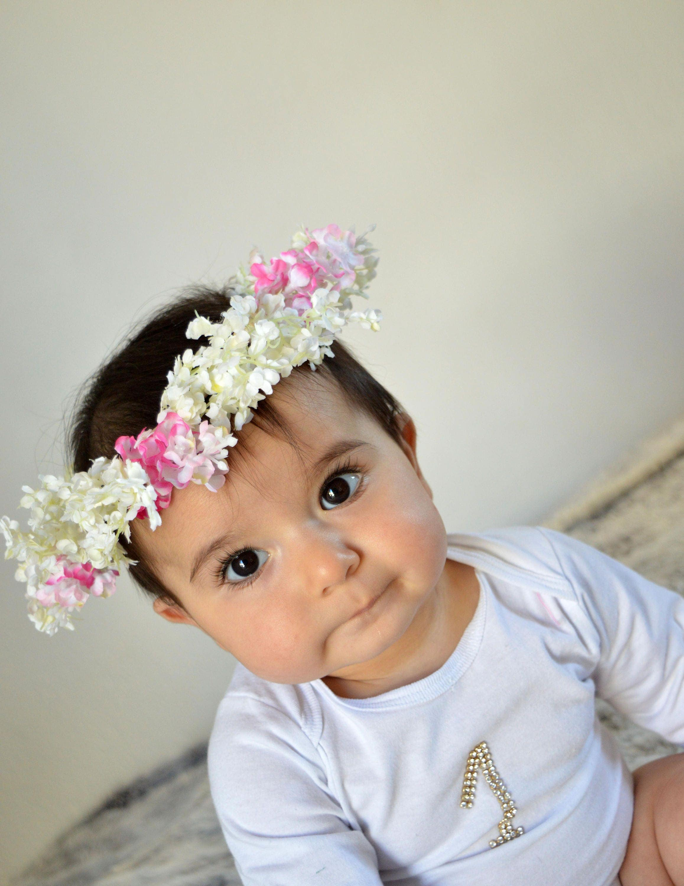 Baby Flower Crown Ivory Flower Crown Pink Flower Crown Flower