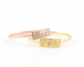 Name Ring, Custom Name Ring, Personalized Ring, Mothers Ring, Custom Stacking Ring, Engraved Ring, Initial Ring, Monogram Ring, SR0467