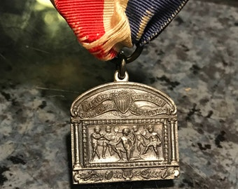1926 Sterling Silver National High School Championship Band Contest Award Medal
