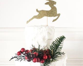 Reindeer Cake Topper • Christmas Cake Topper • Winter Party Decor • Holiday Party Decor • Christmas Decor • Festive Cake Topper • Rudolph