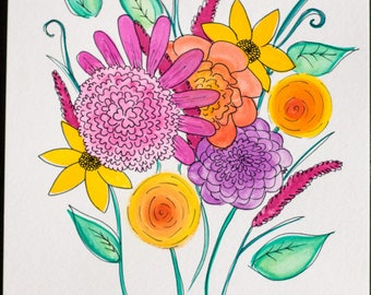 Flowers Watercolor ORIGINAL Art