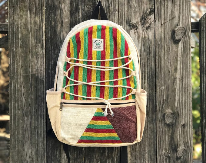 Featured listing image: Colored Pure Hemp Handmade backpack