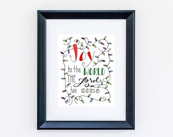 PHYSICAL/Joy to the World the Lord has Come/8x10 Illustration Print