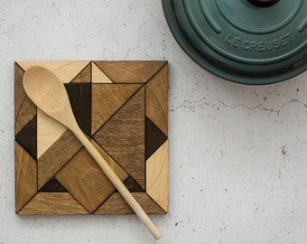 Marquetry Trivet