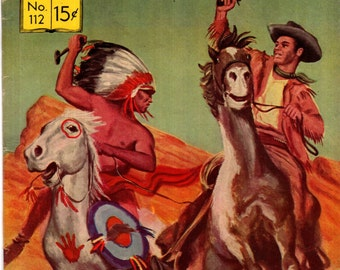 Classics Illustrated #112 (HRN 113) FN The Adventures of Kit Carson 1953 Rare First Edition