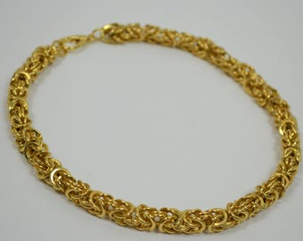 Faux Gold Link Necklace- Vintage Gold Link Chain