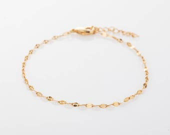 Dainty Lace Chain Bracelet, Gold Lace Chain Bracelet, Silver Bracelet, Rose Gold Chain Bracelet, Layering Bracelet, Gift for Woman