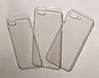 iPhone Clear Hard Plastic Case DIY Decoden 6/6S 6Plus/6SPlus 7Plus/8Plus