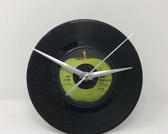 "The Beatles -- Hey Jude, 7"" Vinyl Clock"