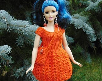 Curvy Barbie outfit, curvy barbie dress, curvy barbie clothes, curvy barbie, barbie dress, barbie fashion, doll purse, curvy barbie fashion
