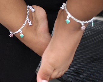 Baby Anklet Baby Anklets Baby Jewelry Sterling Silver Anklet Baby Girl Gift Childrens Jewelry Baby Gift Baby Shower Gift Girls Anklet