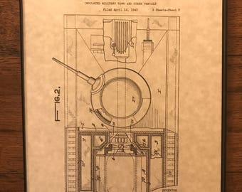 Insulated Military Tank Patent Print - Military