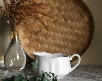 White Vintage Ironstone Gravy Bowl
