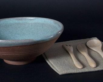 Large bowl Brown green everyday (ceramic)