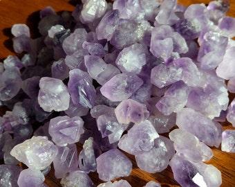 Bulk Tumbled Rough Amethyst Crystals - Skeletal Amethyst