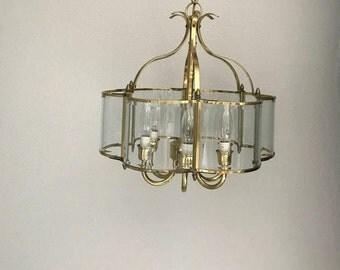 Chandelier | Small Chandelier | Brass Chandelier | Gold Chandelier | Vintage Chandelier