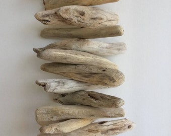 Natural Driftwood Garland Wall Decor | Driftwood Hanging Garland | Driftwood  Mobile Wall Hanging Coastal Beach