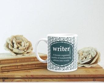 Mug for Writer, Gift for Writer, Writer Definition, Writers Club, Journalist Gift, Journalist Mug, Writing Inspiration, Book Lover Christmas