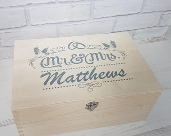 Wedding keepsake, Memory box, Keepsake box, Memories box, Wedding gift, Mr & Mrs, Special wedding, Gift, Memories, Mementos