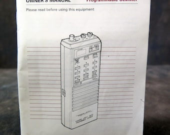 Original Manual Realistic PRO 34 Portable Scanner Radio Instructions NOT A Copy
