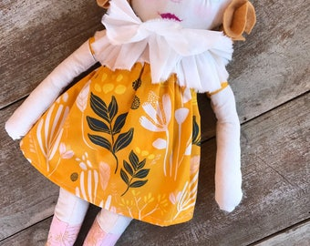Mila fabric rag doll