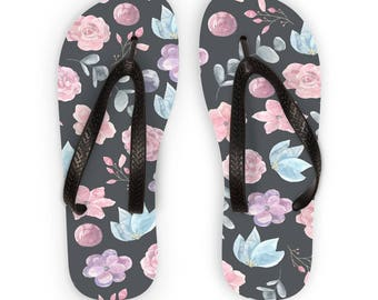 Flip Flops Sandals Summer Beach Floral Free Worldwide Shipping!