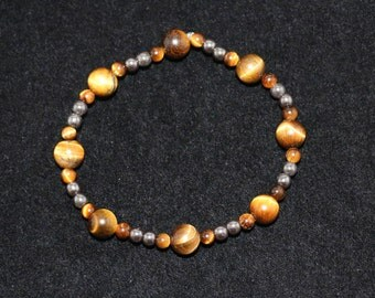 No. 19 Tiger Eye and Hematite Bracelet (Hand Made)