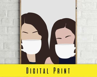 GILMORE GIRLS Lorelai and Rory Gilmore DIGITAL Print Wall Art Prints Photography Prints Home Decor Prints
