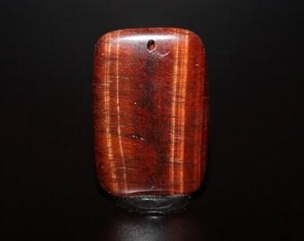Red Tigers Eye Bead - Red Flash Gemstone Bead Jewelry Supply - DLML16