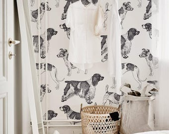 Dog Wallpaper For Walls dog wallpaper   etsy