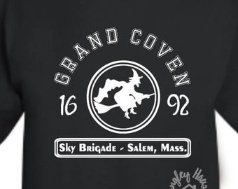 Grand Coven Sky Brigade tshirt/Halloween/Witch/Salem/Costume