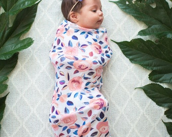 Baby Girl Swaddle Sack Set with Bow, Swaddle, Cocoon, Sleep Sack, Swaddle, Newborn, Blanket, Headband, Top Knot