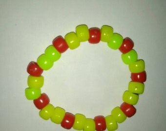 Yellow & Red Bead Bracelet ~ PLUR