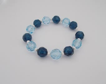 Light & Dark Blue Bracelet.