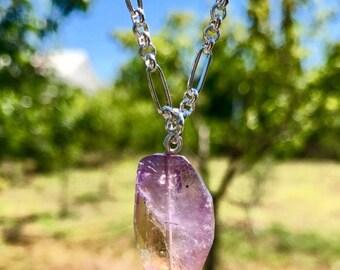 Authentic Ametrine Gemstone Necklace!