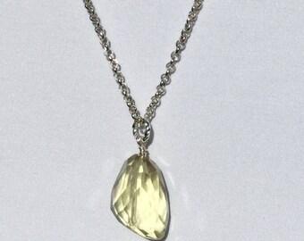 Stylish Lemon Quartz Gemstone Necklace!