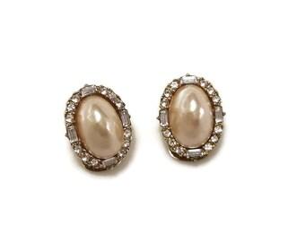 Dior Pearl Earrings Etsy