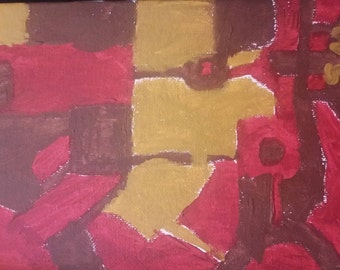 Red and Brown Painting