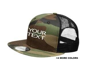 CUSTOM TEXT Trucker Mesh Hat | Custom Embroidered Hat, Custom Snapback, Custom Trucker Hat, Personalized Snapback Hat, Your Text Here