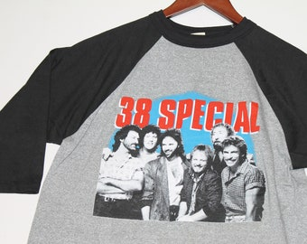 M/L * vtg 80s 1986 38 Special raglan tour t shirt * classic rock medium large * 45.172