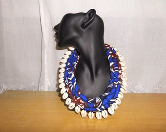 African necklace for women, ethnic jewelry, gift for women, wax jewelry