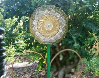 Glass Flower garden art suncatcher