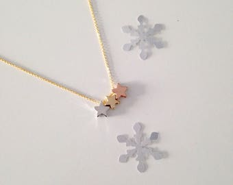 3 gold stars necklace