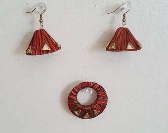 Multicolor earring with Pendant