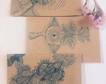 "Hand drawn ""Life"" card"