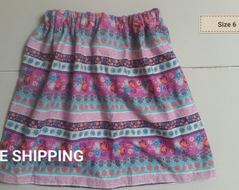 striped floral size 6