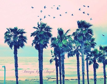 Pacific Beach San Diego Fine Art Photography Download or Custom Order Print, Photo Stock, Vintage Style Beach Photography, Beach House Art